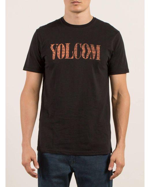 Volcom | Black Weave Tee for Men | Lyst