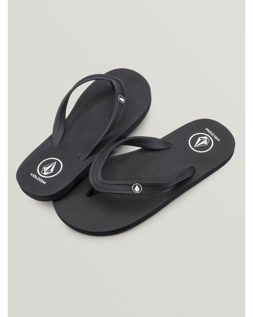 54978e8824af9d Lyst - Volcom Rocker 2 Solid Flip Flop Sandal in Black for Men - Save 6%