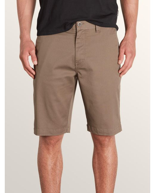 Volcom - Brown Men's Frickin Mod Stretch Shorts for Men - Lyst
