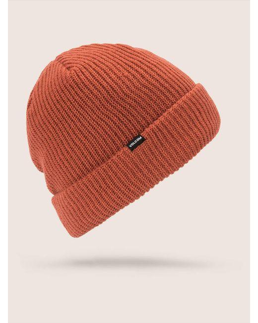 Volcom - Orange Sweep Lined Beanie for Men - Lyst