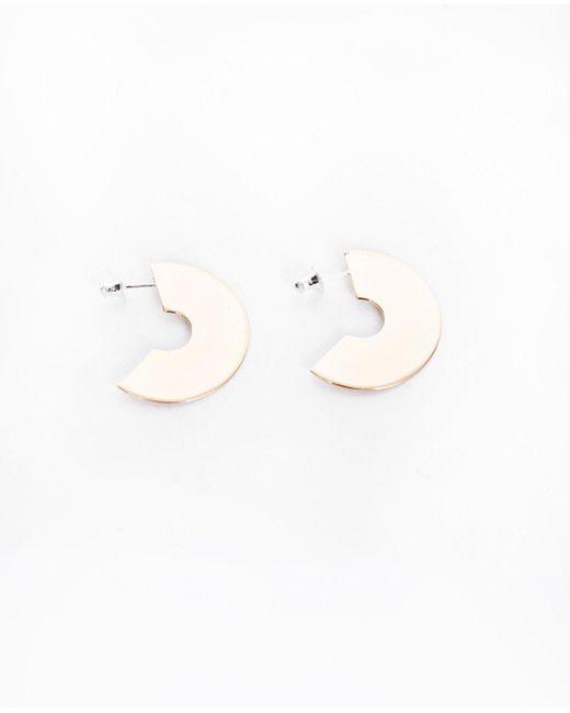 Faris   Metallic Medium Disc Hoops / Bronze   Lyst