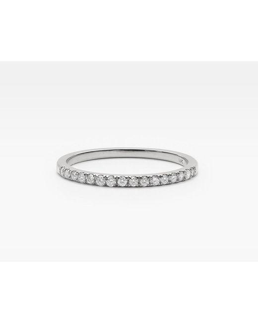 Vrai & Oro | Metallic Petite White Diamond Band | Lyst