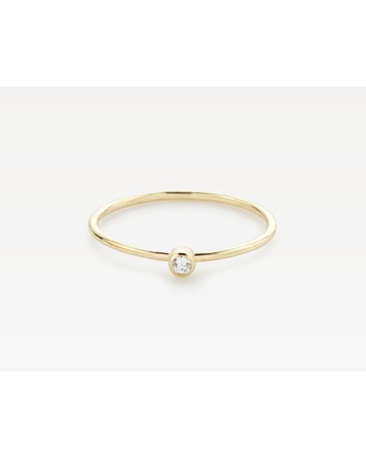 Vrai & Oro | Metallic Round White Diamond Stacker | Lyst