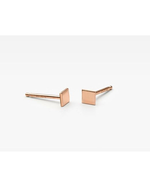 Vrai & Oro | Pink Square Stud Earrings | Lyst
