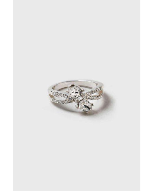 Wallis | Metallic Swarovski Wrap Detailed Ring | Lyst