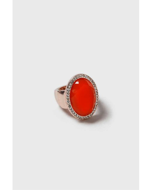 Wallis | Red Coral Stretch Ring | Lyst