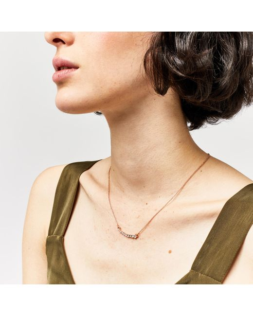 Warehouse | Metallic Graduated Crystal Bar Necklace | Lyst