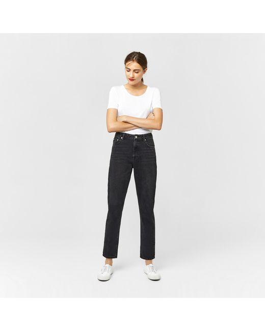 Warehouse | Gray Mom Cut Jeans | Lyst