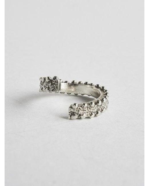 A.NEUJAC - Metallic Bold And Twist Ring - Lyst