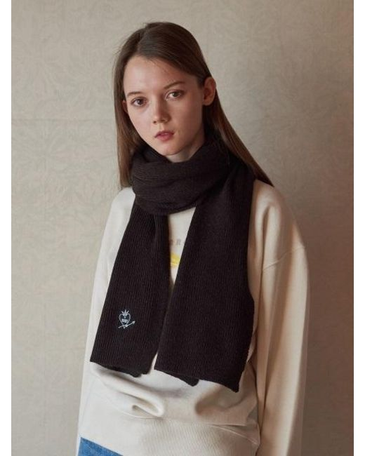 W Concept | Black Heartmande Wool Muffler 9color | Lyst