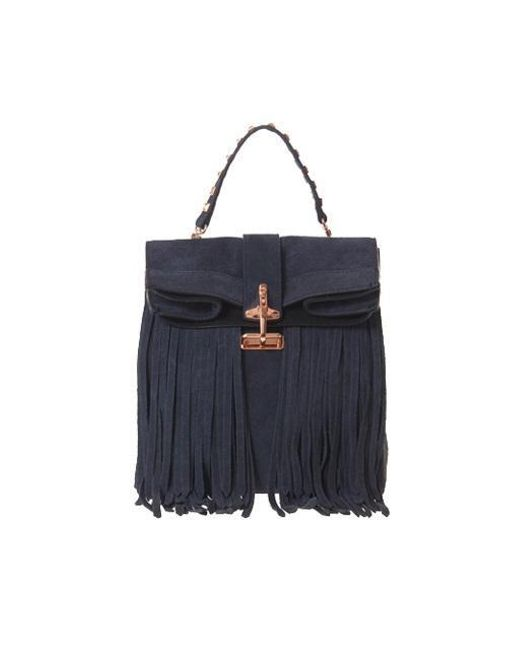 W Concept - Blue Paper Tessel Bag Navy - Lyst