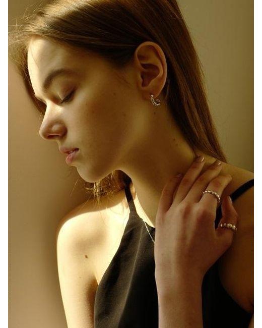 FLOWOOM - Metallic Cabochon Earrings - Lyst