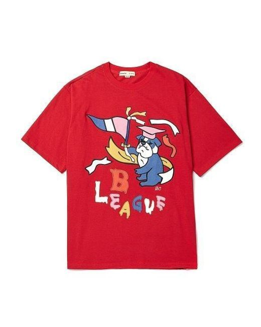 BEYOND CLOSET   Red [unisex]colette Edition Mix Patch Overfit 1 2 T Shirts  ...