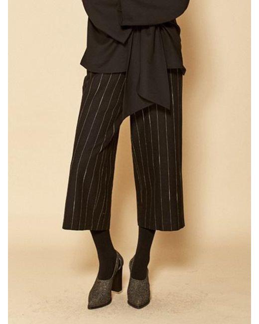 W Concept - Stripe Pants_black - Lyst