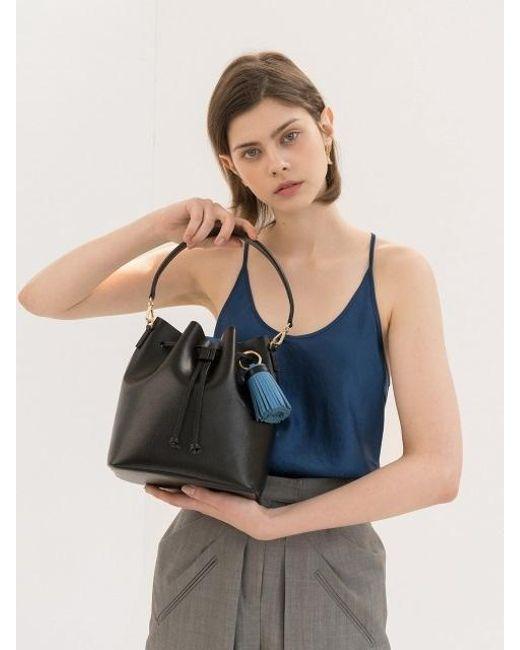 DEMERIEL - Bucket Bag Black Medium - Lyst