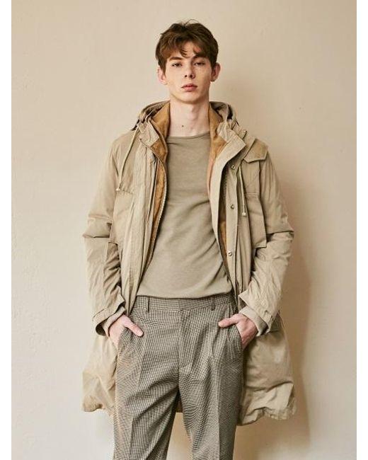 YAN13 - Natural Semi-sized Hoodie Duck Down Jumper_beige for Men - Lyst