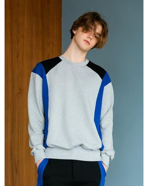 BONNIE&BLANCHE - Sporty Line Sweatshirt Gray for Men - Lyst
