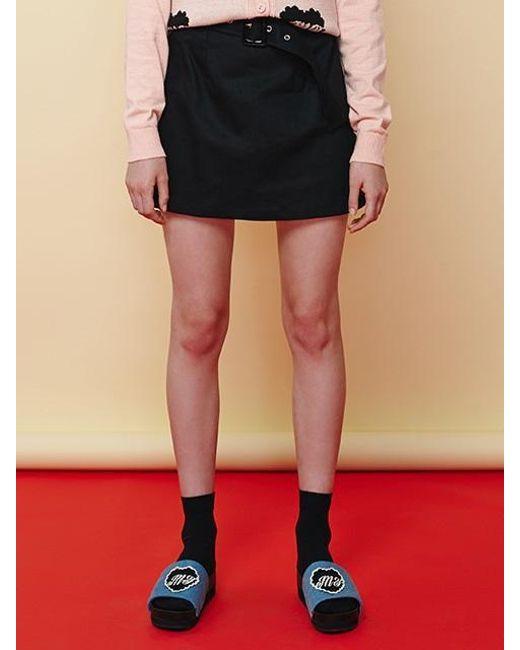 Margarin Fingers - Black Belt Mini Skirt - Lyst