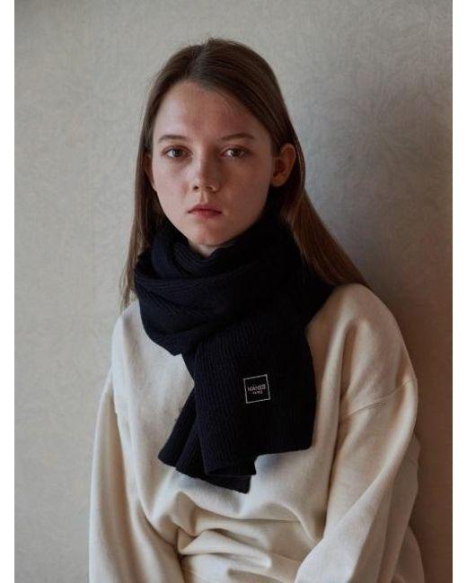 W Concept - Black Lauret Wool Muffler 9color - Lyst