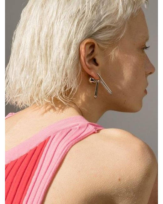 VIOLLINA - Metallic Hanguel Alphabet Single Earring-4 Silver - Lyst