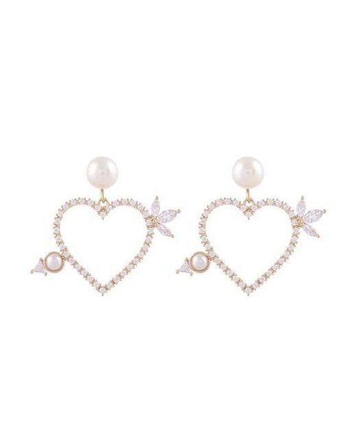 NOONOO FINGERS - Multicolor Arrow Pearl Earring - Lyst