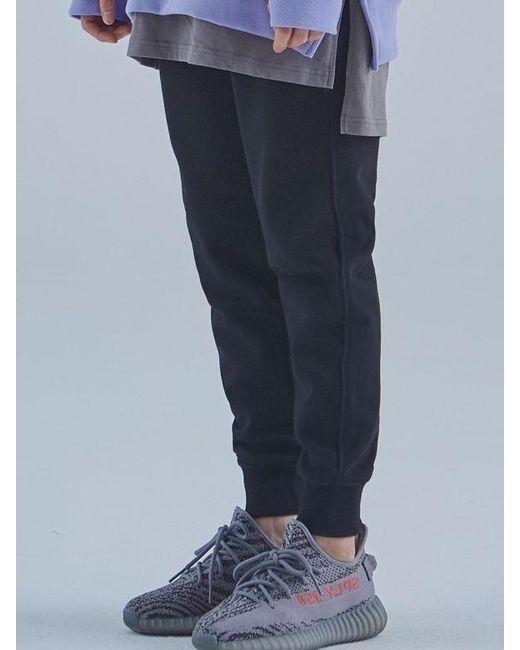 MIGNONNEUF Mnfs Heavy Weight Logo Pocket Pants Black for men