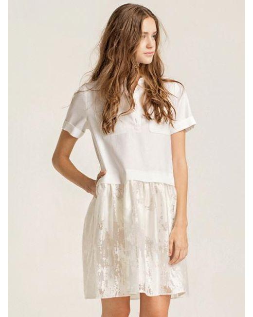 W Concept | White [wxo] Mandarin Collar Dress | Lyst