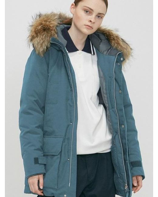 Liful minimal garments. Shelter Down Parka Light Blue in Blue | Lyst