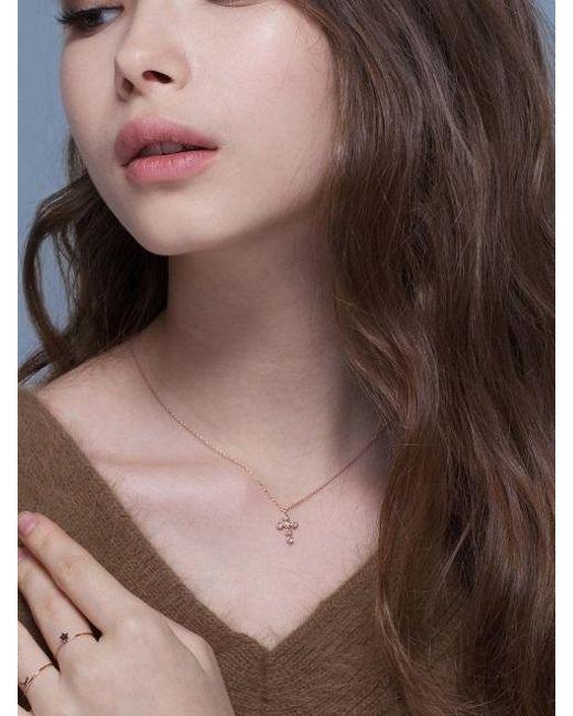 G. TATIANA - Multicolor 14k Ariel Cross Necklace - Lyst