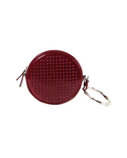 W Concept - Red Stud Tambourine Bag Plum - Lyst