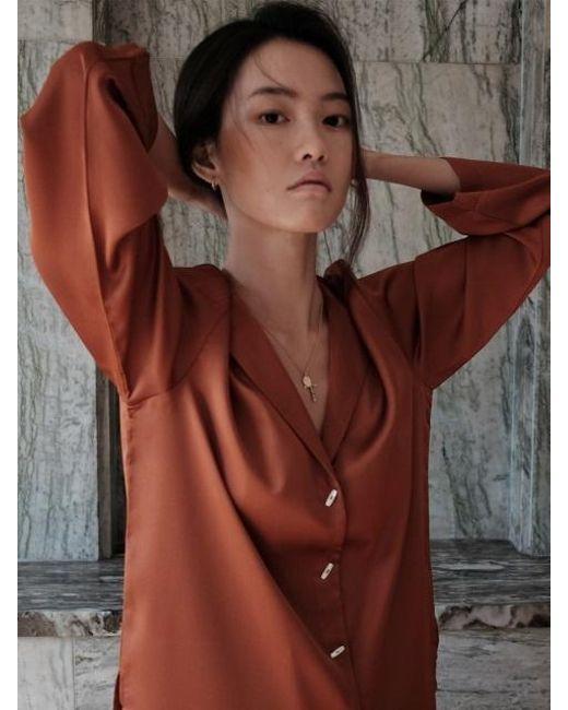 W Concept - Brown Maison Shirt Bronze - Lyst