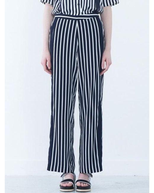 NASTY HABIT - Blue Pintuck Stripe Trousers - Lyst