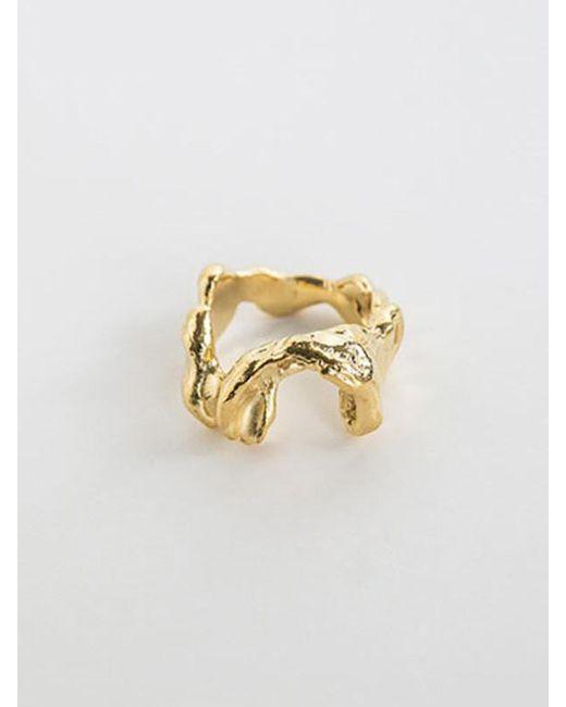 A.NEUJAC - Metallic Carved Ring - Lyst