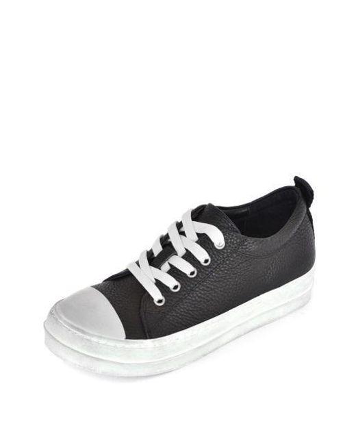 NOMONICO - Black Mid Top Leather Sneakers for Men - Lyst