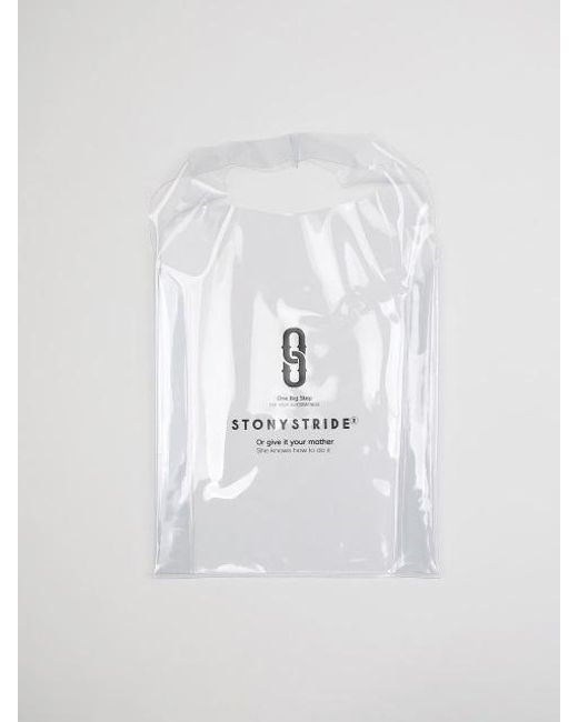 W Concept White Pvc Clear Bag Lyst