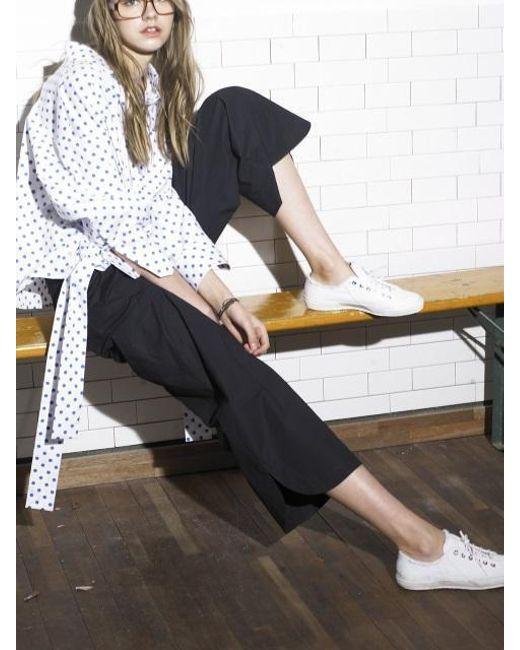 OUAHSOMMET - Black Wide Ankle Pants_bk - Lyst