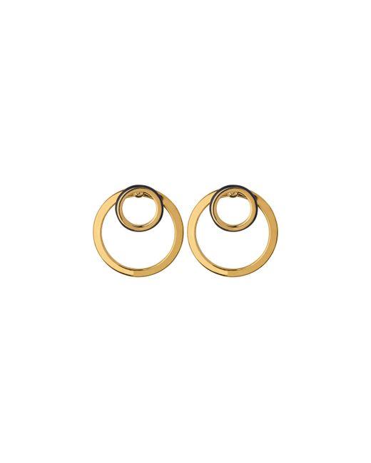 Whistles | Metallic Double Circle Enamel Earring | Lyst