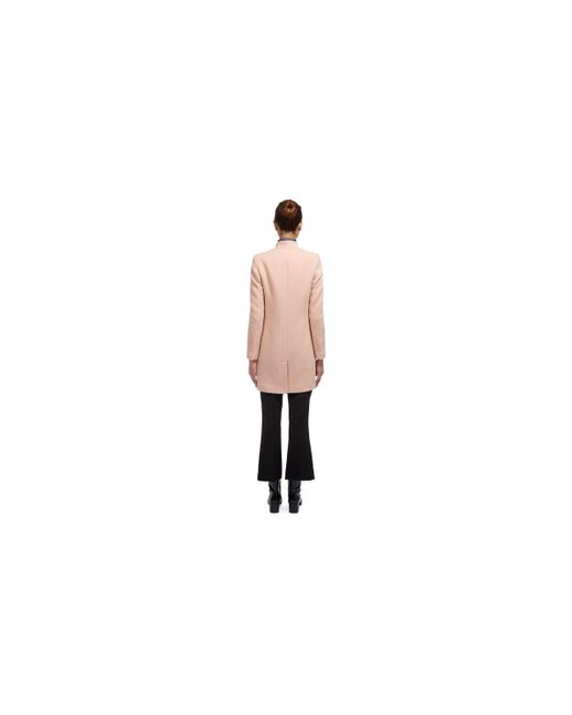 Whistles Single Breasted Coat in Pink | Lyst