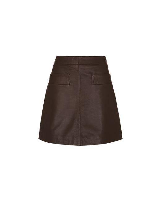 whistles leather skirt lyst