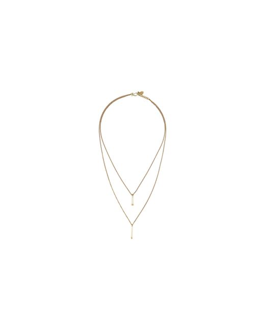 Whistles | Metallic Madedouble Tower Drop Necklace | Lyst