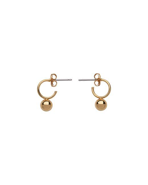 Whistles - Metallic Mini Hoop And Sphere Earring - Lyst