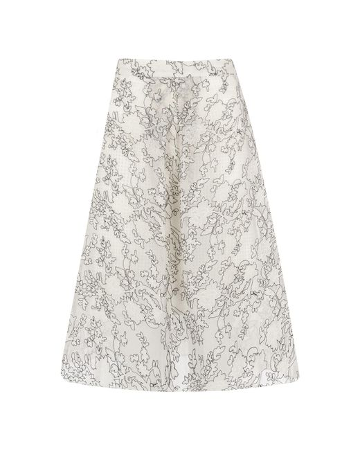 Whistles - White Marrion Full Lace Skirt - Lyst