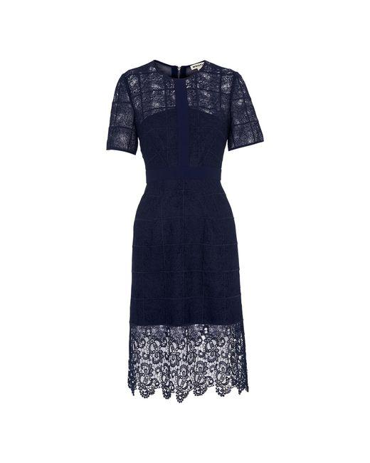Whistles - Blue Ailsa Placement Lace Dress - Lyst