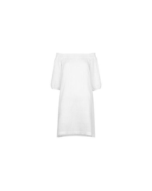 Whistles - White Lila Bardot Linen Dress - Lyst
