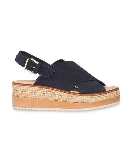 Whistles - Blue Rafi Flatform Sandal - Lyst