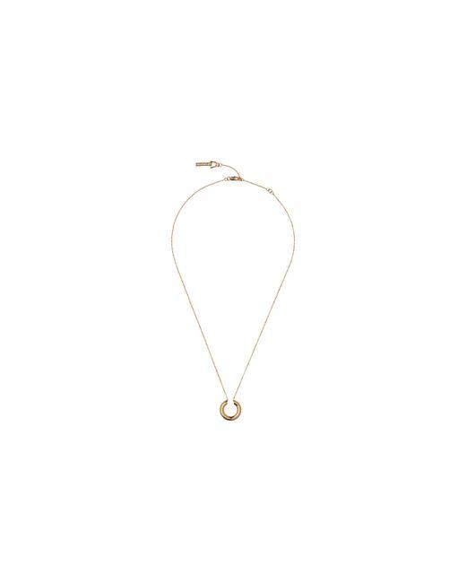 Whistles | Metallic Mini Tube Hoop Necklace | Lyst