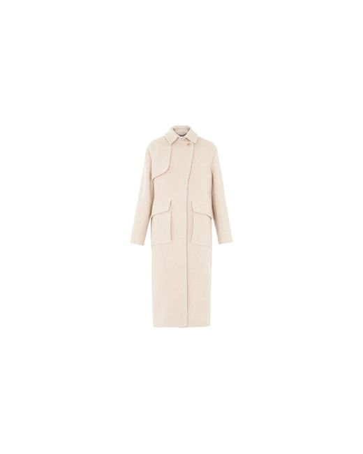 Whistles - Blue Bree Single Breasted Pea Coat - Lyst