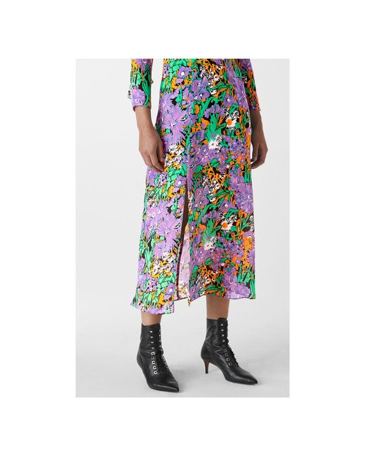 cfb50136bef ... Whistles - Multicolor Simone Floral Print Midi Dress - Lyst ...