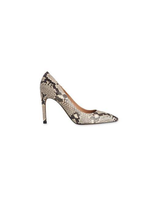 Whistles | Natural Cornel Snake Print Point Pump | Lyst