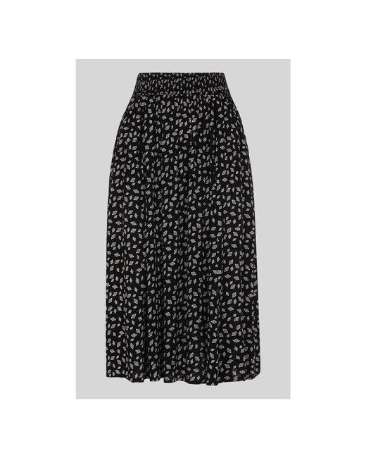 Whistles - Black Gobi Print Textured Skirt - Lyst
